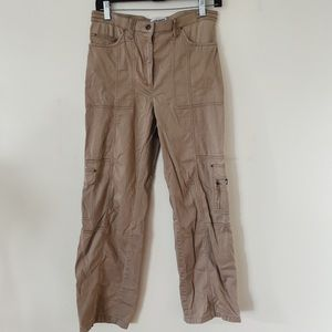 Marie Claire Beautiful Size 9 Dark Beige Mid Rise Casual Pants